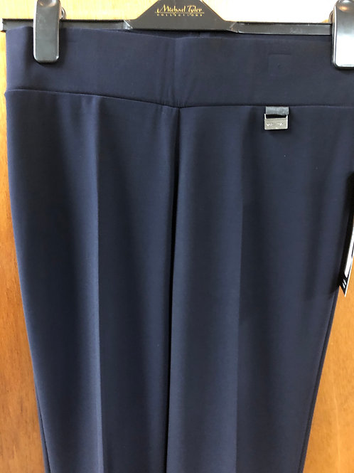 'Michael Tyler' full length navy pants with tummy control