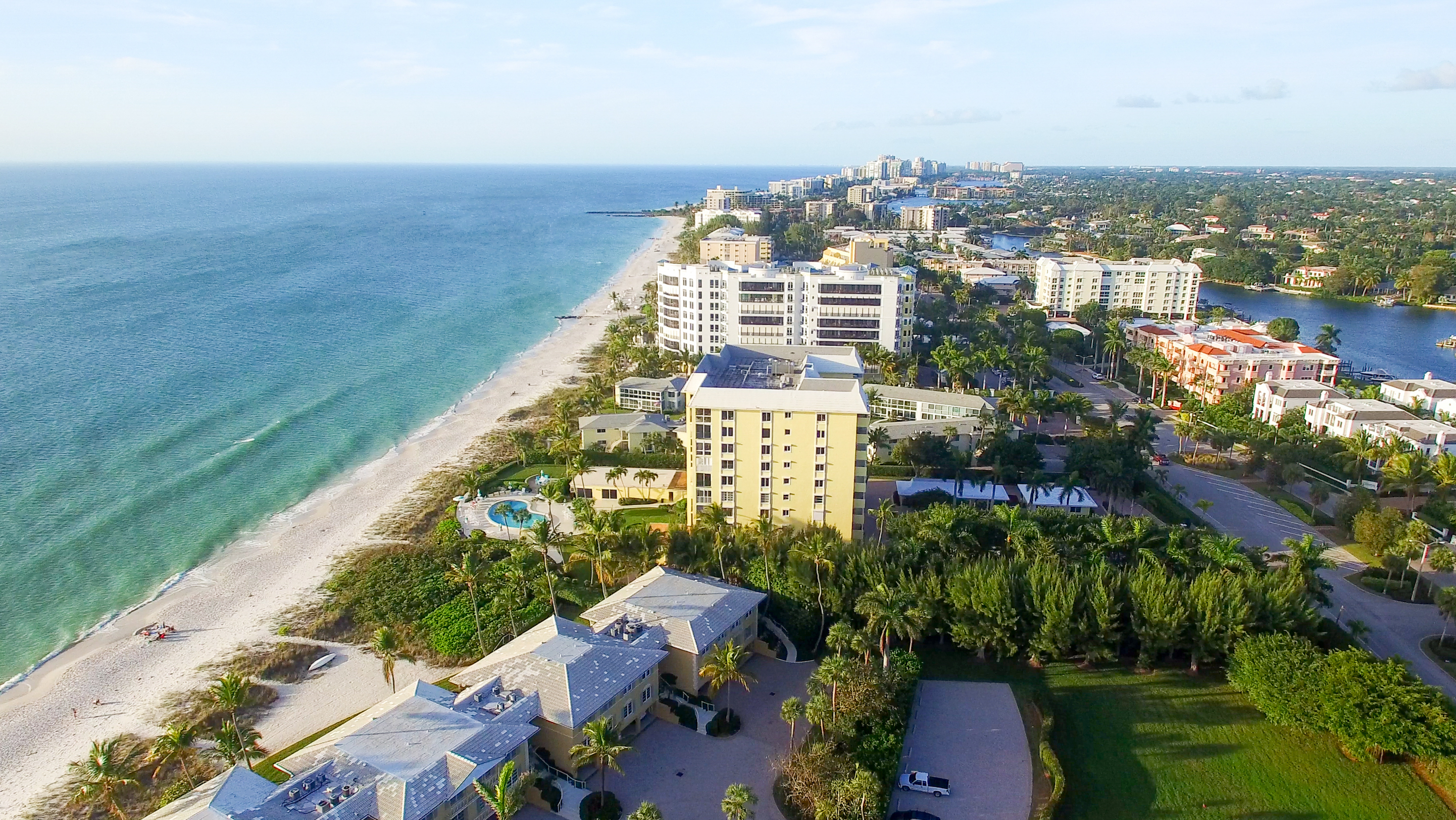 Naples coastline, Florida aerial view