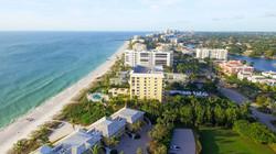 Naples coastline, Florida aerial view
