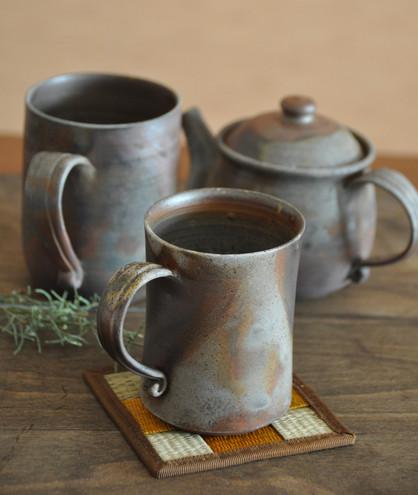 Bizen ware coffee tea mugs