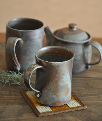 Bizen ware coffee tea mugs