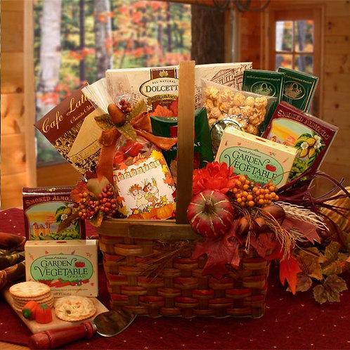 Harvest Blessings Gourmet Fall Gift Basket