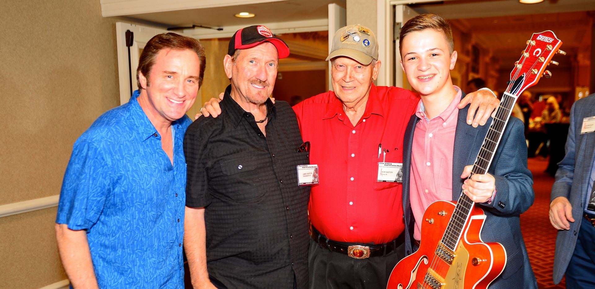 Darrell, James Burton, Bob Saxton and Pa