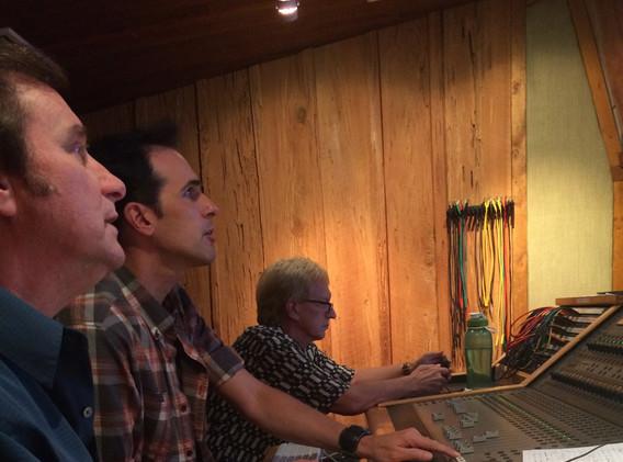 Darrell & Terry Blackwood in the studio.