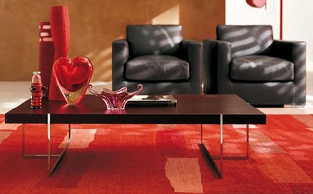 Sala con decoración con alfombra
