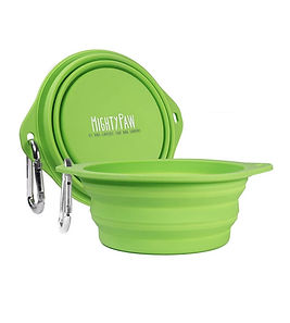 Mighty Paw Collapsible Travel Dog Bowl Set - 2 Pack