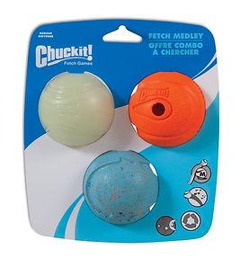 Chuckit Fetch Medley Ball Medium (3 Pack)