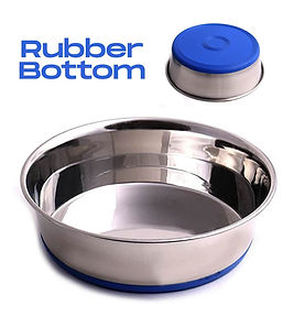 Rubber Bottom Stainless Steel Dog Bowl