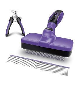 Ruff 'N Ruffus Brush + FREE Pet Nail Clippers + FREE Steel Comb