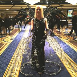 Interactive Champange Wing Dress