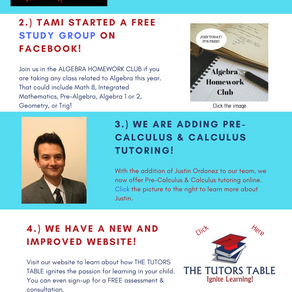 5 Things You May Not Know About THE TUTORS TABLE