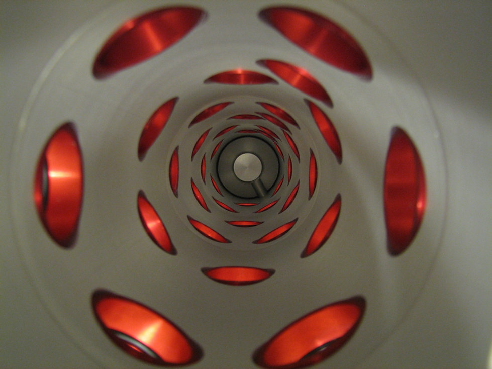 The image shows the inside of an inhalation chamber