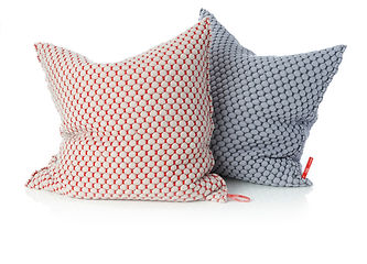 hills cushion, orange or red
