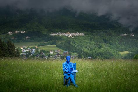 """Bleu des Cyclades Sentier artistique """"San'Art"""" 2018 St Hilaire du Touvet"""