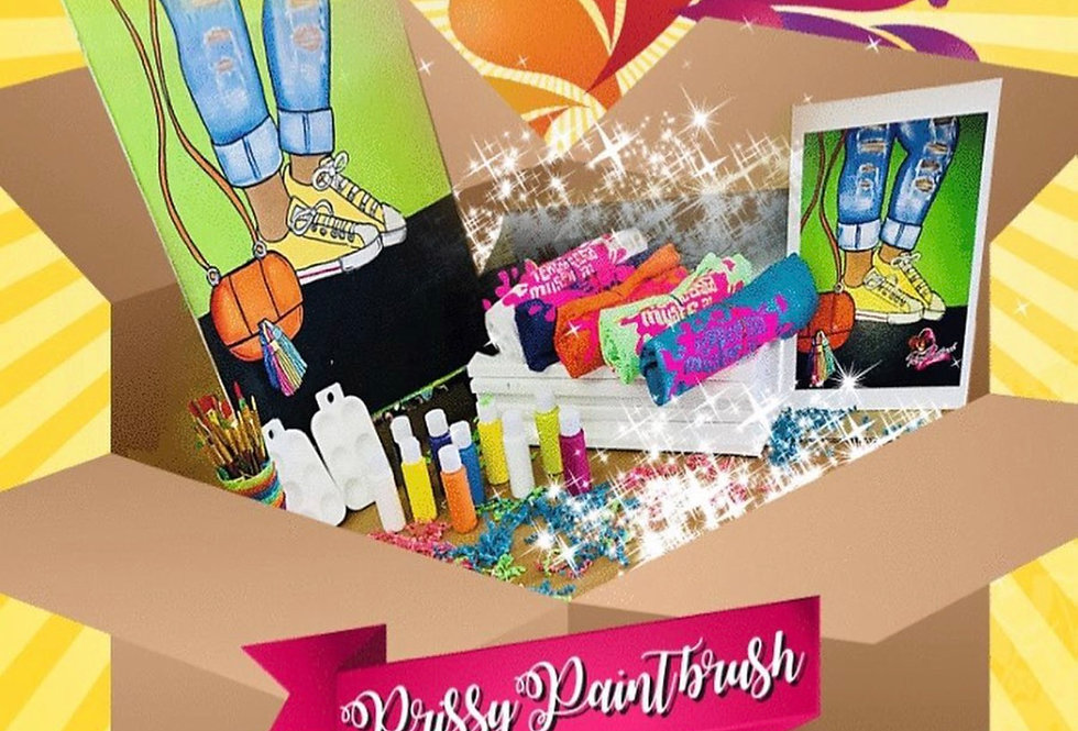 Prissy Paintbrush Party Box of 5