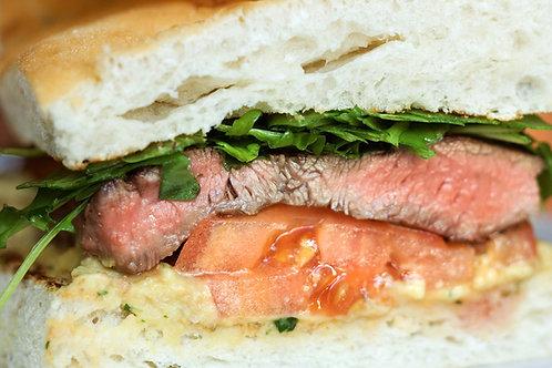 Sandwich Bœuf et légumes grillés (Baguette tradition, rosbeef, courgettes