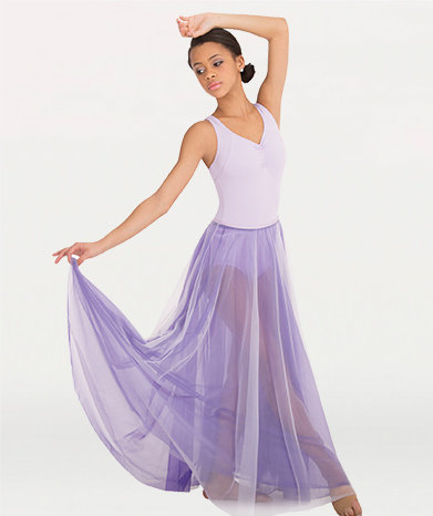 Long Full Chiffon Skirt Girls