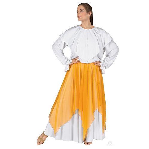 39768 - Eurotard Womens Sheer Devotion Single Layer Chiffon Drape and Skirt Prai