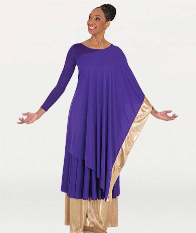 Convertible Asymmetrical Caftan Pullover