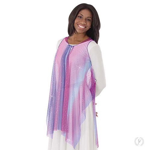 13848 - Eurotard Womens Soft Skies Sequined Tulle Sheer Praise Tunic