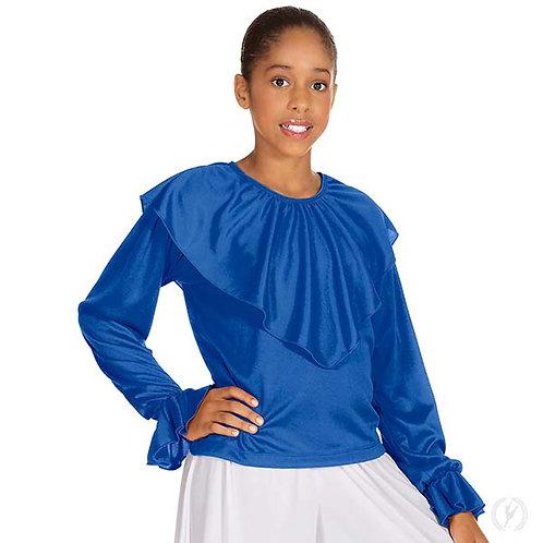 13736c - Eurotard Girls Humble Servant Polyester Loose Fit Shawl Collar Praise T