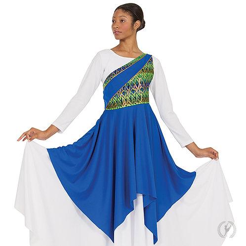 63567 - Eurotard Womens Joyful Praise One Shoulder Worship Tunic