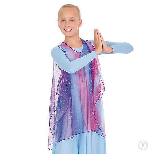 13848c - Eurotard Girls Soft Skies Sequined Tulle Sheer Praise Tunic