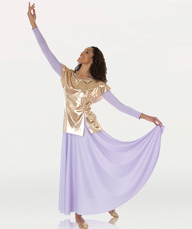 Girls Metallic Tunic Pullover
