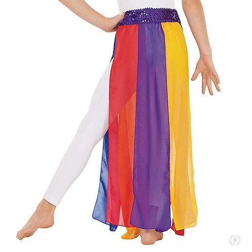 39808c - Eurotard Girls Chiffon Paneled Praise Skirt Overlay