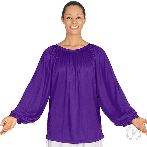13673p - Eurotard Unisex Plus Size Humble Servant Polyester Gathered Loose Fit P