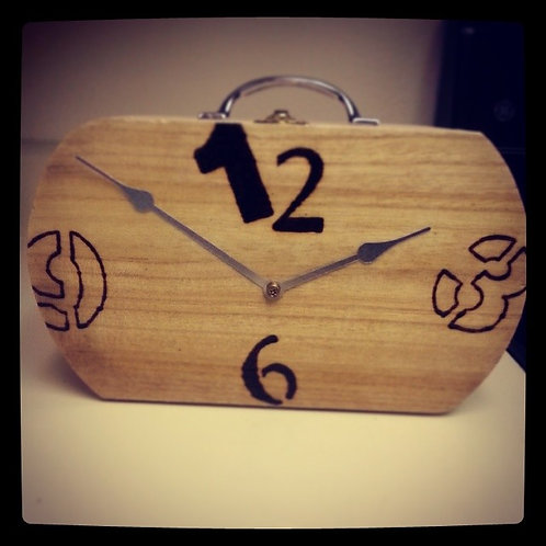 Natural Clock Box Purse