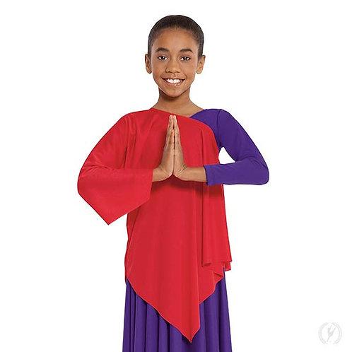 13826c - Eurotard Girls Quiet Prayer Polyester One Shoulder Praise Tunic