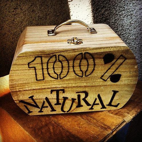 """Box Purse """"100% Natural"""""""