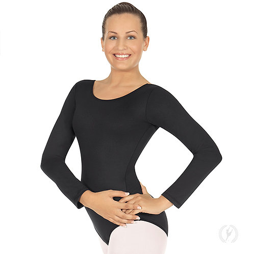 10265p - Eurotard Womens Plus Size Long Sleeve Leotard with Cotton Lycra®