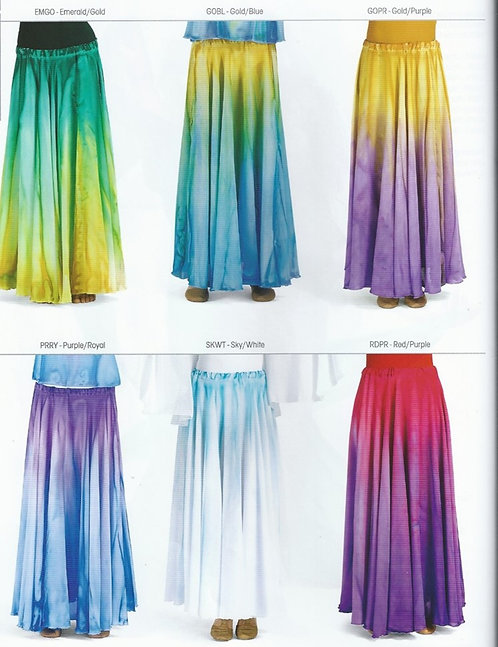 WC105 Watercolour Worship Long Skirt
