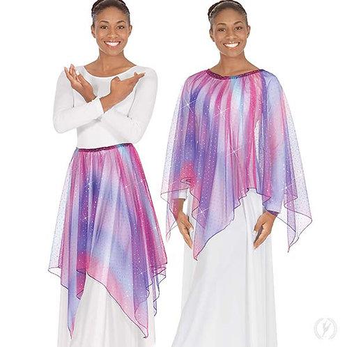 13768 - Eurotard Womens Soft Skies Sequined Tulle Drape and Skirt Praise Overlay