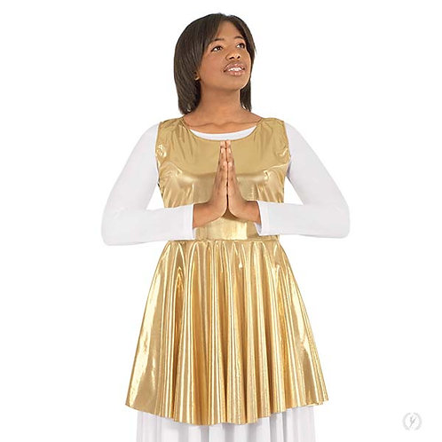 14824 - Eurotard Womens Guiding Light Metallic Peplum Style Praise Tunic