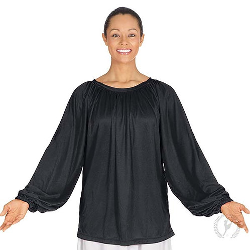 13673 - Eurotard Unisex Humble Servant Polyester Gathered Loose Fit Praise Top