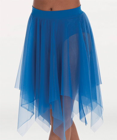 Uneven Hem Double Layer Chiffon Skirt