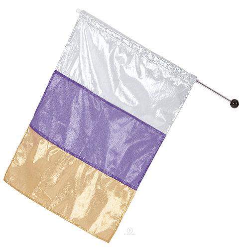13flm - Eurotard Metallic Tricolor Dance Flag