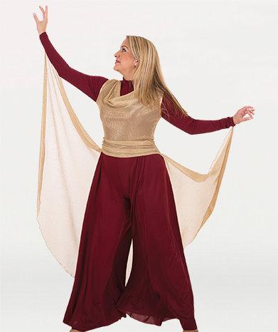 Micro Pleated Metallic Pullover