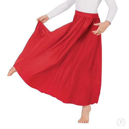 13778k - Eurotard Young Girls Polyester Full Length Praise Skirt