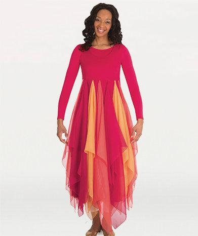 Long Sleeve Fire Dress