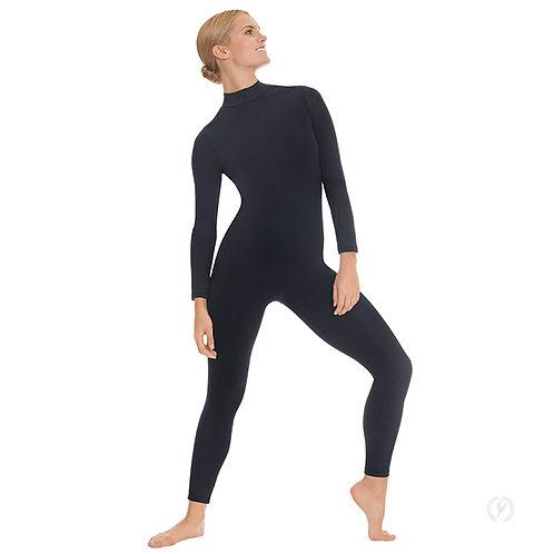 44132 - Eurotard Womens Zipper Back Mock Neck Long Sleeve Unitard