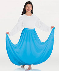 Girls Praise Dance Circle Skirt