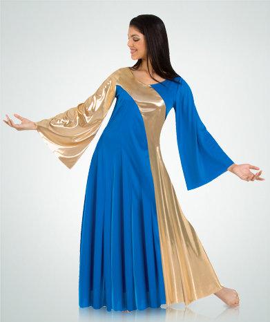 Girls Asymmetrical Bell Sleeve Dress