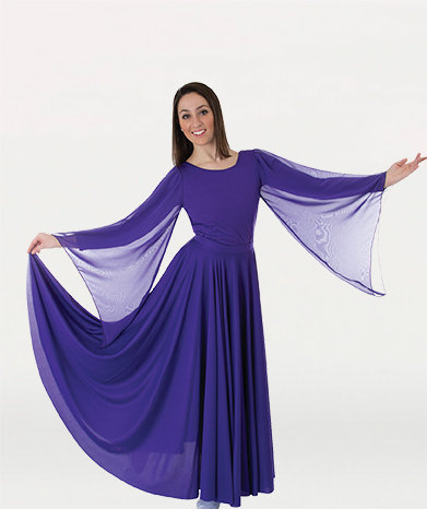Praise Dance Extra Full & Long Circle Skirt