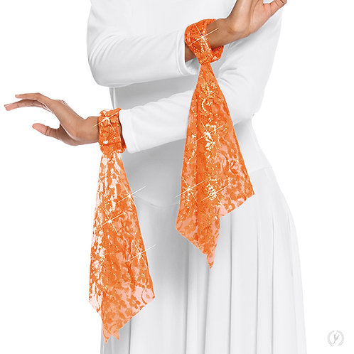65859 - Eurotard Heavenly Lace Wrist Scarves