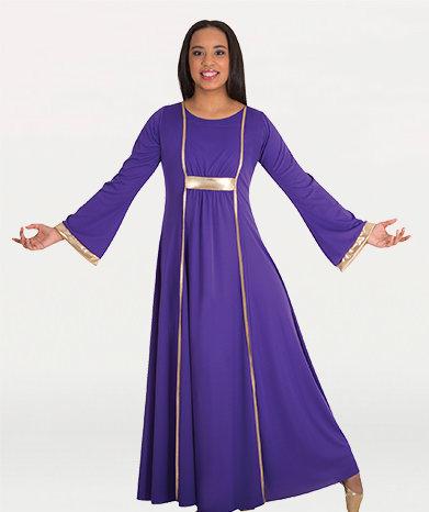 Girls Dress With Princess Seam Panels