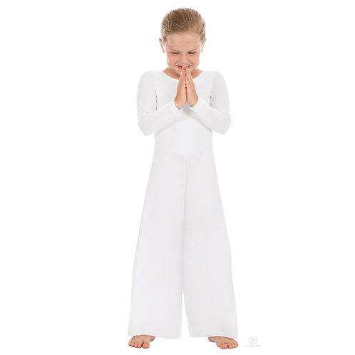 13842c - Eurotard Girls Simplicity Polyester Long Sleeve Wide Leg Praise Jumpsui